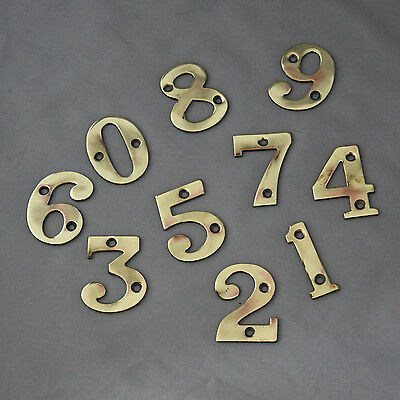 Antique Victorian Solid Brass Numerals #2 3