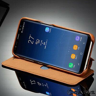 For Galaxy Note 10/9/8 S10/S9 Plus Leather Wallet Stand Thin Slim Case Cover 3
