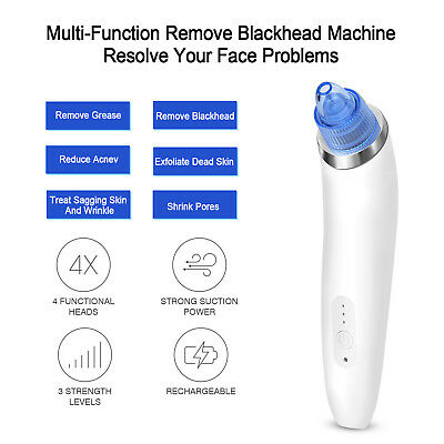 Electronic Blackhead Remover Vacuum Suction Facial Acne Pore Cleaner Extractor 8