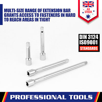 "9-Piece Socket Extension Bar Set 1/4"" 3/8"" 1/2"" Drive Extra Long Ratchet CRV New 2"