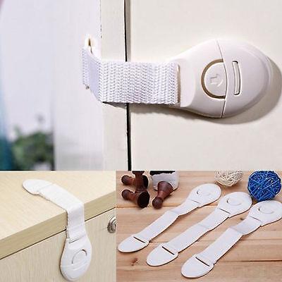 10 PCS Safety Child Infant Baby Kids Drawer Door Cabinet Cupboard Toddler Locks 3