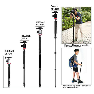 Neewer Camera Tripod Monopod with Ball Head for DSLR Camera Video Camcorder 6