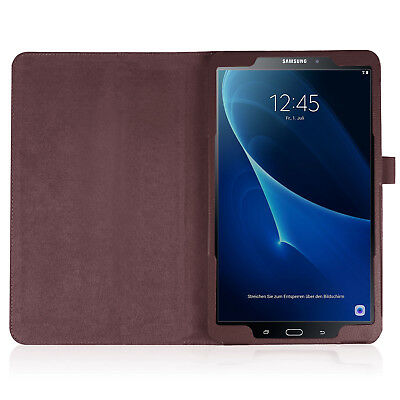 """For Samsung Tab A 8.0 10.1 E 9.6"""" Tablet PU Leather Flip Cover Case Litchi Grain 4"""