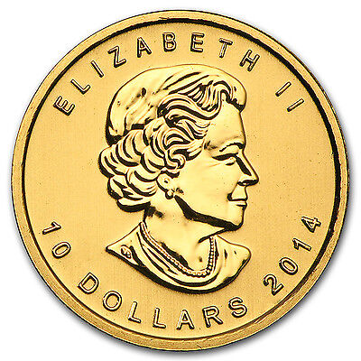 2014 Canada 1/4 oz Gold Arctic Fox BU - SKU #95743