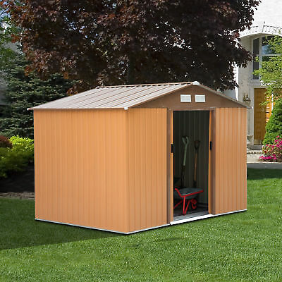 Garden Shed Storage Large Yard Store Door Metal Roof Building Tool Box Container 3