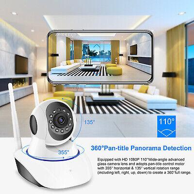 US HD Wireless IP Security Camera Indoor CCTV Home Smart WIFI Baby Monitor 7