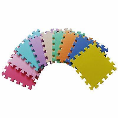 Kids Children PlayMats Soft Foam Interlocking Play Mats Outdoor Activity 9 Pc 4