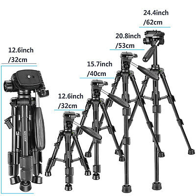 Neewer Mini Travel Tabletop Camera Tripod 24 inches with 3-Way Swivel Pan Head 3