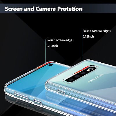 For Samsung Galaxy S10 / S10+ Plus Crystal Clear Ultra Slim TPU Phone Case Cover 3