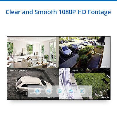SANNCE 1080P HDMI 8CH DVR 2.0MP 3000TVL Home Security Camera System Night Vision 8