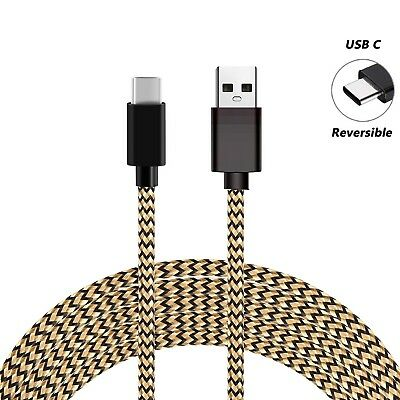 For Samsung S8 S9+ Note9 A5 Type C Data Sync Charger Charging Cable Braided USB 4