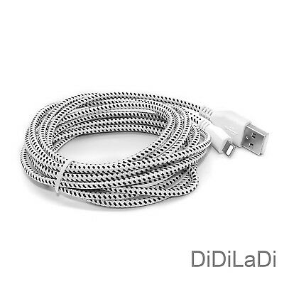 1/2/3M Braided Lightning USB Charger Data Sync Cable For iPhone 6 7 8 Plus X XR 10