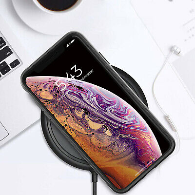 iPhone X XS Max XR Case ZUSLAB Clear Heavy Duty Shockproof Slim Cover + GLASS SP 8