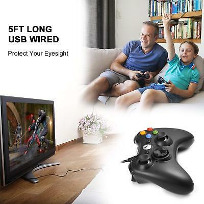 Wired USB Game Controller Joystick for Microsoft Xbox 360 / PC Windows XP 7 8 10 5