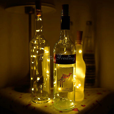 Cork Shaped 20 LED Night Light Starry Lights Wine Bottle Lamp For Wedding Party 4