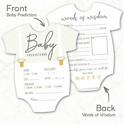 10 x Baby Shower Games Prediction & Advice Cards New Mum To Be ~ Boy Girl 2