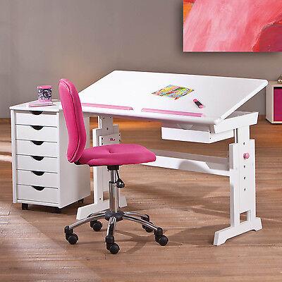 kinderschreibtisch sch lerschreibtisch schreibtisch kind blau rosa weiss eur 86 50 picclick de. Black Bedroom Furniture Sets. Home Design Ideas