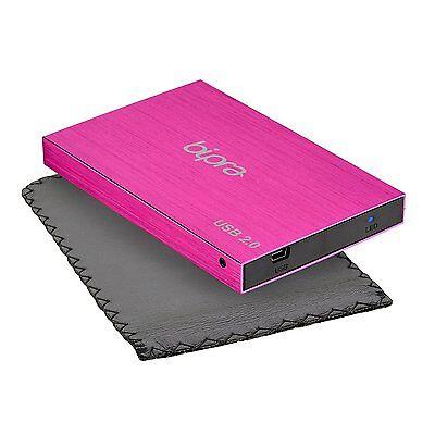 Bipra 160GB 2.5 inch USB 2.0 FAT32 Portable Slim External Hard Drive - Pink