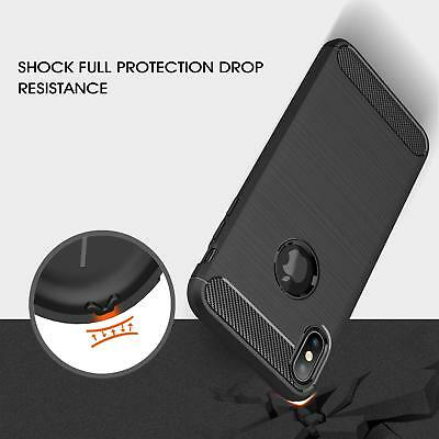 For iPhone XR X XS Max 7 8 Plus 8+ Heavy Duty Shockproof Tough Rubber Case Cover 8