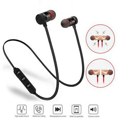 Bluetooth Headphones Magnetic Wireless Stereo Earphones for iPhone Samsung HTC 4