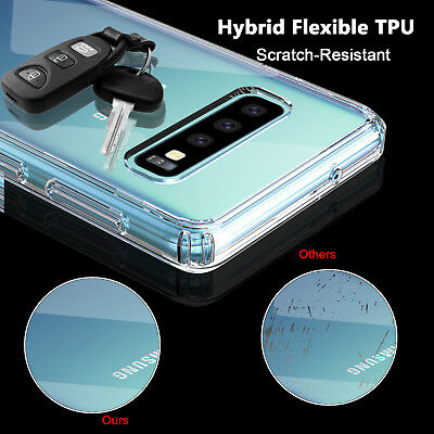 For Samsung Galaxy S10 / S10+ Plus Crystal Clear Ultra Slim TPU Phone Case Cover 8