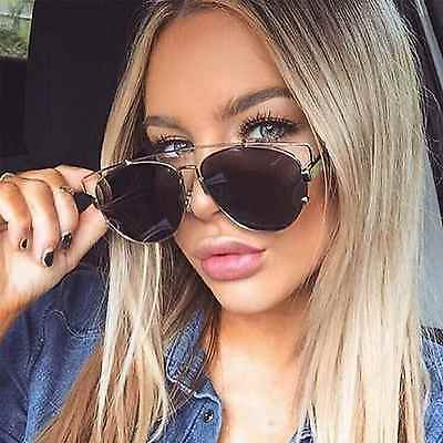 "SHIELD Mask Aviator Futuristic Fashion Metal /""Zora/"" Women Sunglasses Gentle Babe"