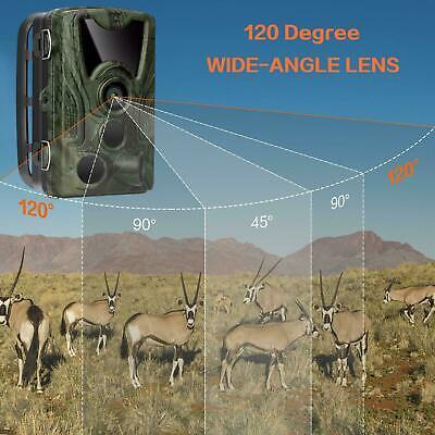 1080P Caméra de Chasse 16MP Cachée Nocturne 120° IR LED Nuit Vision Surveillance 3