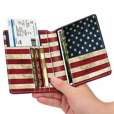 RFID Blocking Passport Holder ID Card Travel Wallet Organizer Cover Case 7