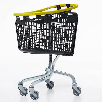 Yellow Shopping Trolley Small Supermarket Cart Araven Loop Trolley 100L 2
