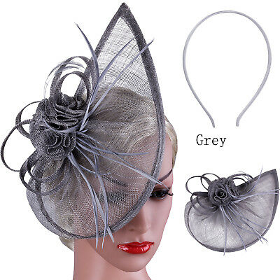 Fascinator Wedding Race Royal Ascot Alice Headband Clip Feathers Hat Head Piece