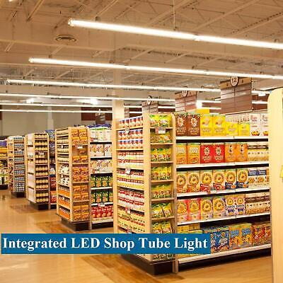 4-100 Pack JESLED T8 Integrated 4-8FT LED Tube Light 22/72W V-Shape 7600LM 6000K 10