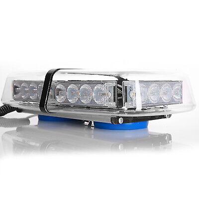 24LED 12V Auto Strobe Warnleuchte Beleuchtung Flash Blitz Leucht Magnetfuß 7Modi