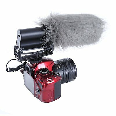 "Movo WS3 Furry Outdoor Shotgun Microphone Windscreen Muff (Fits up to 7"" X 55mm) 5"