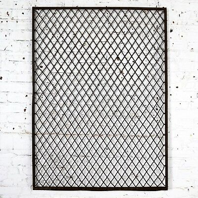 Antique Primitive Industrial Woven Wire Window Security Guard 2