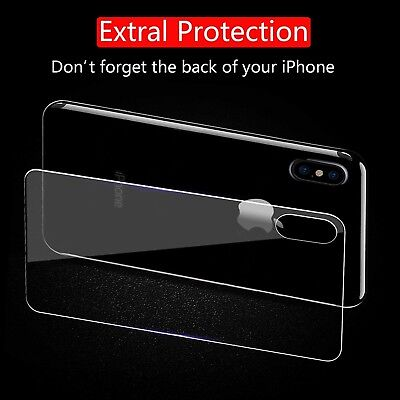 Back Rear Tempered Glass Screen Protector Apple iPhone X XS XS Max XR 7 8 Plus 5