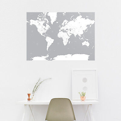 Map of the World A1 Travel Poster Wall Art Prints - Select Your Colour Design