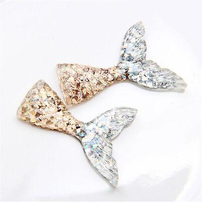10pcs/lot kawaii resin mermaid tail DIY flatback resin cabochons accessories 7