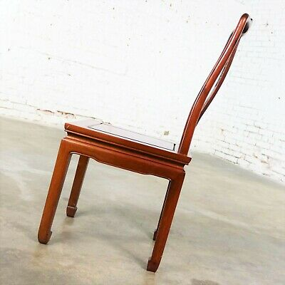 Asian Teak Hand Carved Side Chair in the Style of George Zee 4