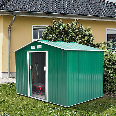 Garden Shed Storage Large Yard Store Door Metal Roof Building Tool Box Container 2
