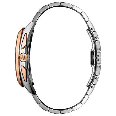 Bulova Men's CURV Chronograph Quartz Rose Gold Tone 43mm Watch 98A160 2