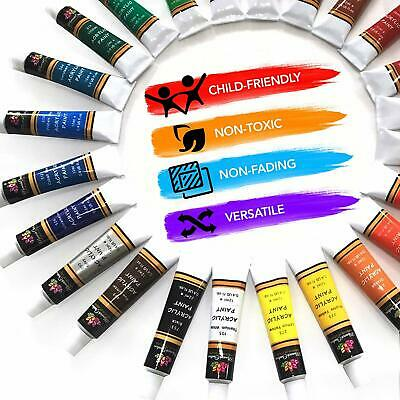 Acrylic Paint Set Tube 24 x 12ml for Artists.Perfect for Canvas,Wood,Ceramic 4