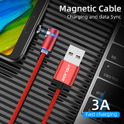 L Shape Magnetic Charger LED Micro USB Charging Cable For Android Samsung Type-C 2