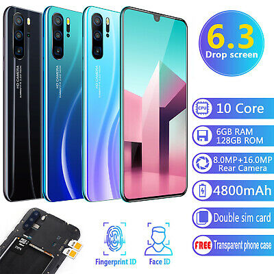 "New P36 Pro Smartphone Android 9.1 6GB+128GB 6.3"" Mobile Smart Phone Dual SIM 2"