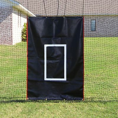 Batting Cage Net 10' x 12' x 60' #24 (42PLY) with Door & FRAME Baseball Softball 2
