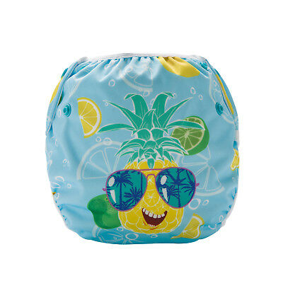 Cool Pineapple Swim Cloth Nappy - washable reuseable swimmer adjustable baby 2
