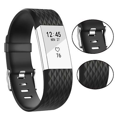 10 Pack Replacement Wristband For Fitbit Charge 2 Band Silicone Fitness Sport 8