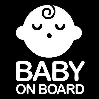 Boy Baby on Board Sticker Decal Safety Caution Sign for Car Window