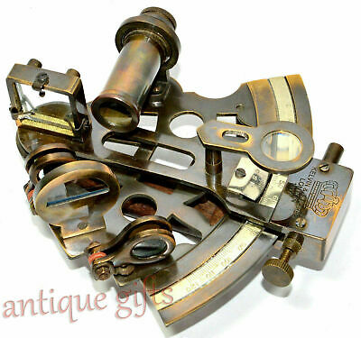 "Antique Maritime Sextant Solid Brass Astrolabe Marine Nautical Sextant 5"" Gift 4"