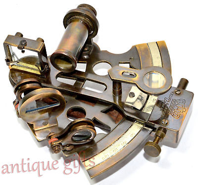 Solid Brass Astrolabe Nautical Sextant Kelvin Hughes Antique Marine Sextant 3