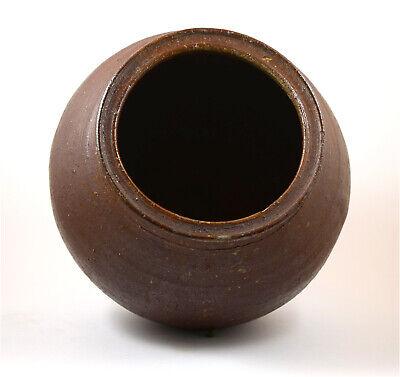 Japan Meiji Period old large Tanba-yaki glazed pottery jar 3